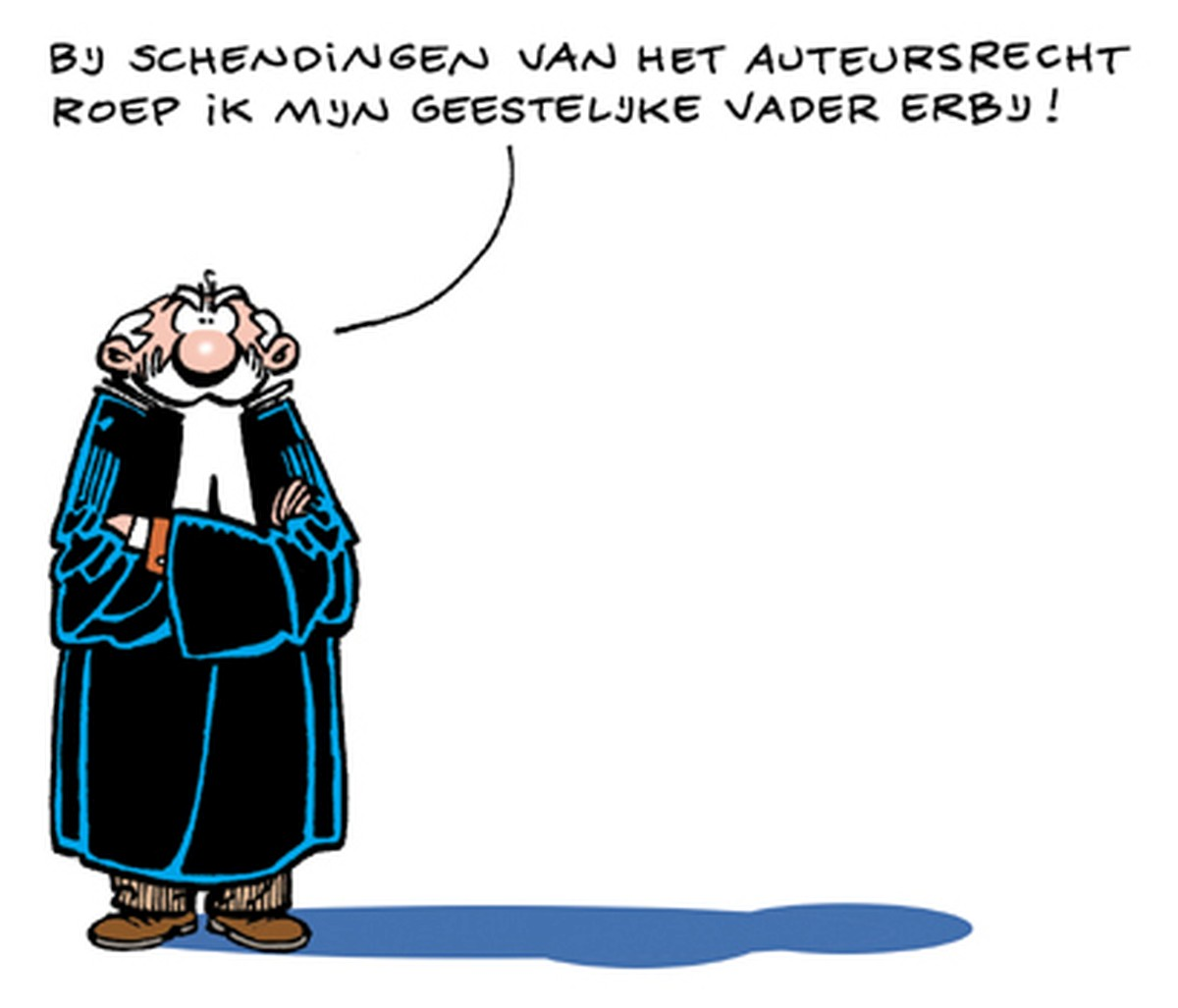 Copyright cartoon Dutch