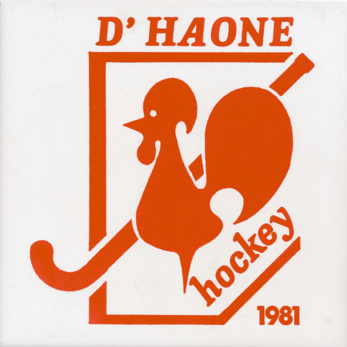1981 D Haone hockey tegel